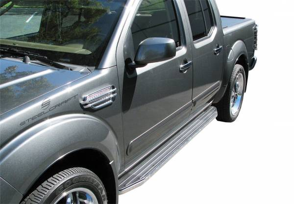 Steelcraft - Steelcraft 140950 STX100 Running Boards, Black With Stainless Steel Trim