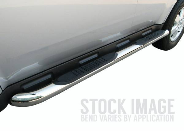 "Steelcraft - Steelcraft 201207 3"" Round Sidebars, Stainless Steel"