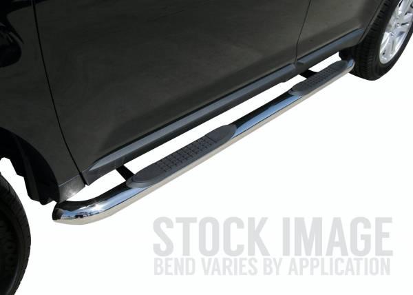 "Steelcraft - Steelcraft 202237 3"" Round Sidebars, Stainless Steel"