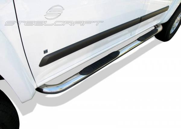 "Steelcraft - Steelcraft 202617 3"" Round Sidebars, Stainless Steel"