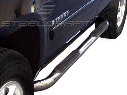 "Steelcraft - Steelcraft 202807 3"" Round Sidebars, Stainless Steel"