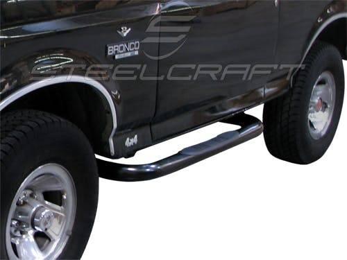 """Steelcraft - Steelcraft 211070 3"""" Round Sidebars, Black"""