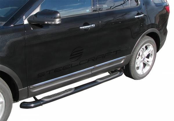 """Steelcraft - Steelcraft 213900 3"""" Round Sidebars, Black"""