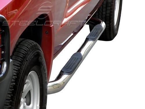 "Steelcraft - Steelcraft 220127 3"" Round Sidebars, Stainless Steel"