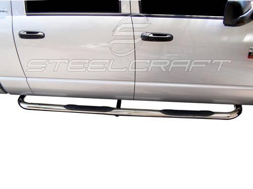 "Steelcraft - Steelcraft 221507 3"" Round Sidebars, Stainless Steel"