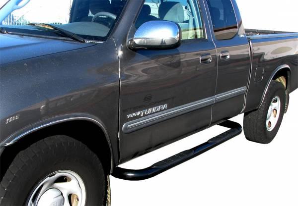 """Steelcraft - Steelcraft 230940 3"""" Round Sidebars, Black"""
