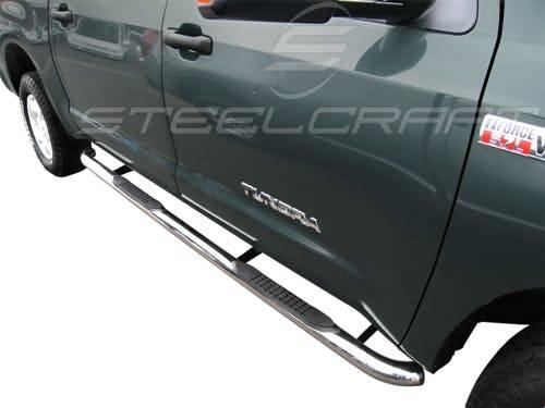 "Steelcraft - Steelcraft 233127 3"" Round Sidebars, Stainless Steel"
