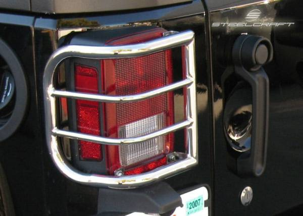 Steelcraft - Steelcraft 32200 Taillight Guards, Black