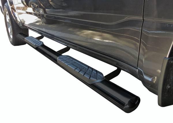"Steelcraft - Steelcraft 421900-1 4"" Straight Sidebars, Semi-Gloss Black"