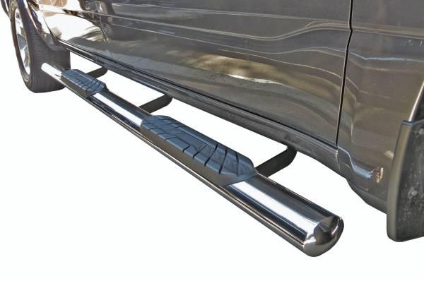 "Steelcraft - Steelcraft 423807-1 4"" Straight Sidebars, Stainless Steel"