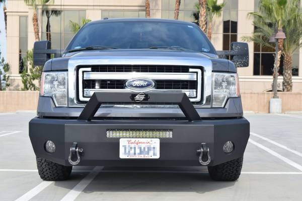 Steelcraft - Steelcraft 70-11360 Elevation Bullnose Front Bumper, Textured Black