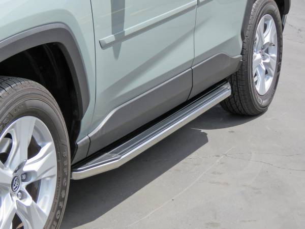 Steelcraft - Steelcraft 135190 STX100 Running Boards, Black with Stainless Steel Trim