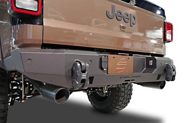 Steelcraft - Steelcraft 65-92540 Full Width Rear Bumper, Textured Black