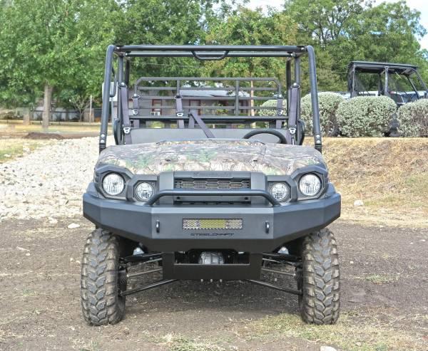 Steelcraft - Steelcraft 70-2010 UTV Front Bumper Overlay, Fine Textured Black
