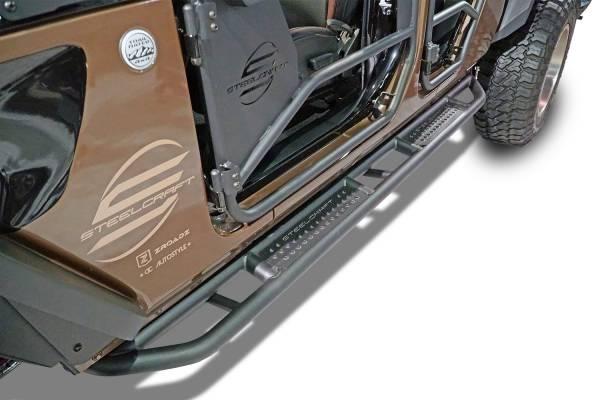 Steelcraft - Steelcraft 80-22343T Rocker Armor Steps, Fine Textured Black