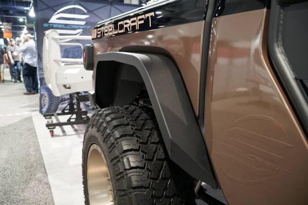 Steelcraft - Steelcraft 92340 Rear Fender Flares, Fine Textured Black