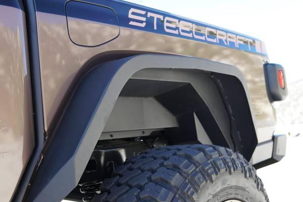 Steelcraft - Steelcraft 92345 Rear Fender Liners, Fine Textured Black