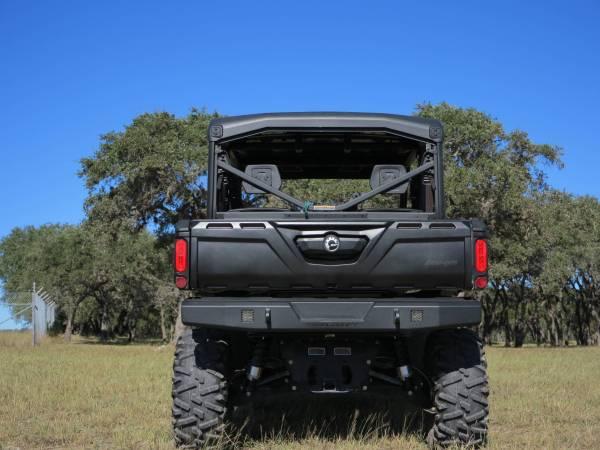 Steelcraft - Steelcraft 65-1000 UTV Rear Bumper Replacement, Fine Textured Black