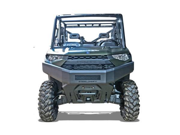 Steelcraft - Steelcraft 70-3010 UTV Front Bumper Overlay, Fine Textured Black