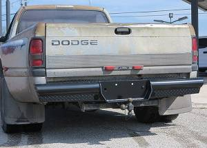 Steelcraft - Steelcraft HD22200 HD Rear Bumper Replacements - Standard, Black - Image 1