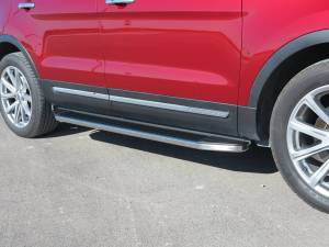Steelcraft - Steelcraft 113900 STX100 Running Boards, Black With Stainless Steel Trim - Image 3